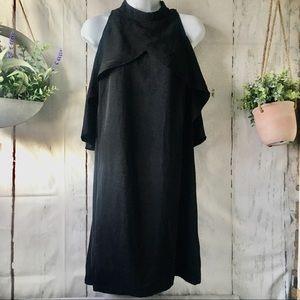 Another Story Black Dress Cold Shoulder Keyhole
